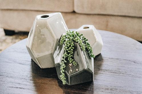 Geometric Ceramic Vases