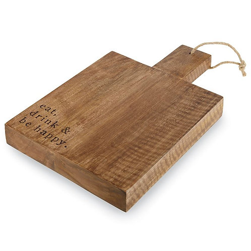 Eat, Drink, & Be Happy Cutting Board