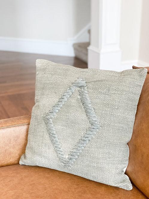 Green Diamond Pillow