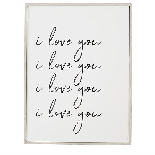 """I love you"" Print"