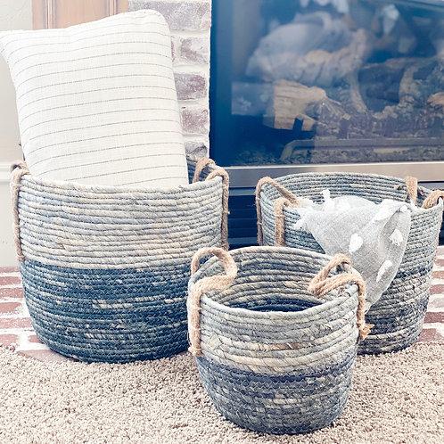 Blue Ombre Baskets