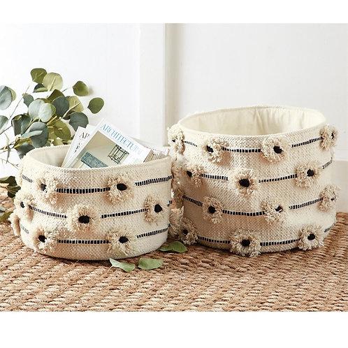 Flower Pom Pom Baskets