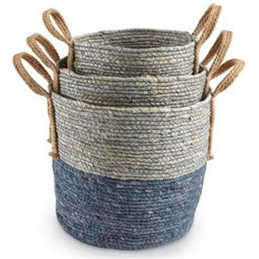 Blue Ombre Baskets - Set of 3
