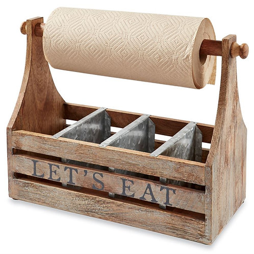 """Let's Eat"" Towel Caddy"