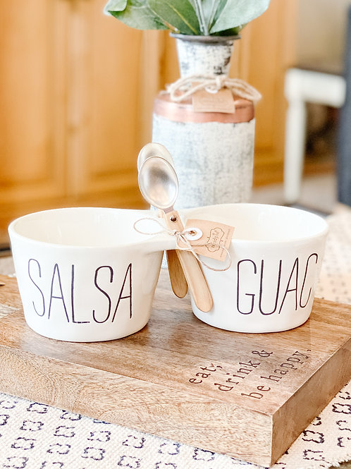 Salsa + Guac Serving Dish