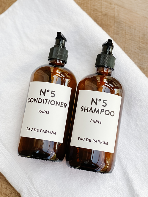 Amber Bottles Shampoo + Conditioner