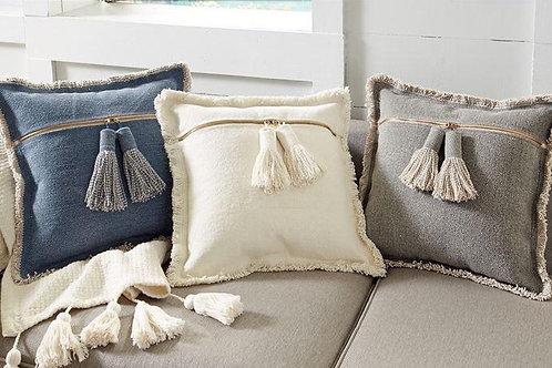 Fringe Pillow + Chunky Tassels