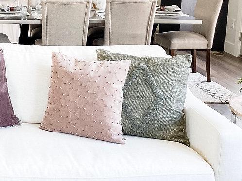 Taupe Velvet Pillow