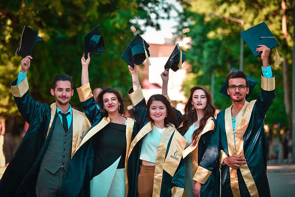 Happy students celebrating