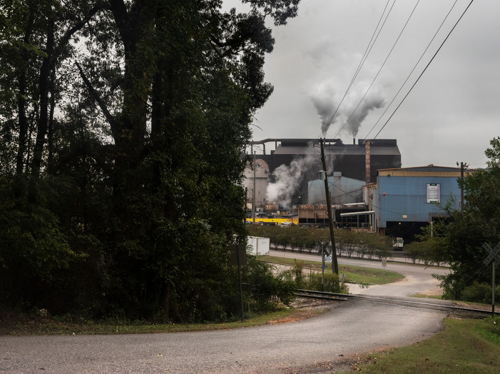 View of Nucor from Nearby Neighborhood