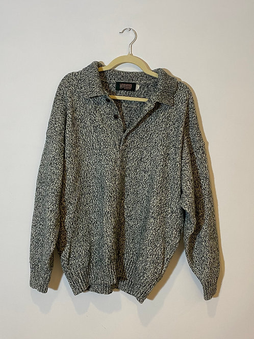 Vintage Heathered Green Knit