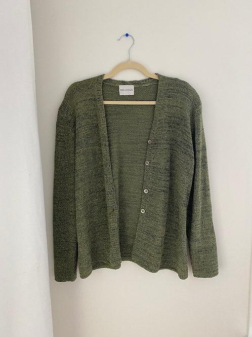 Vintage Green Knit Cardigan