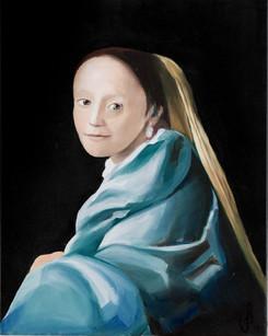 Meisje in blauwjurk (Johannes Vermeer)
