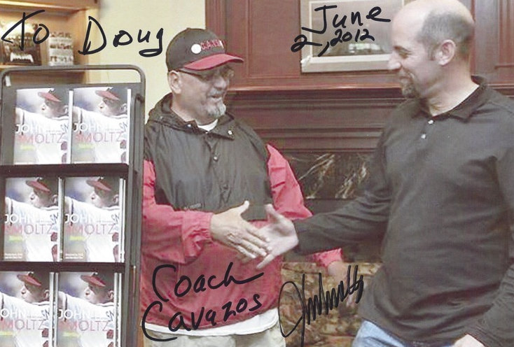 Coach Cavazos and John Smoltz
