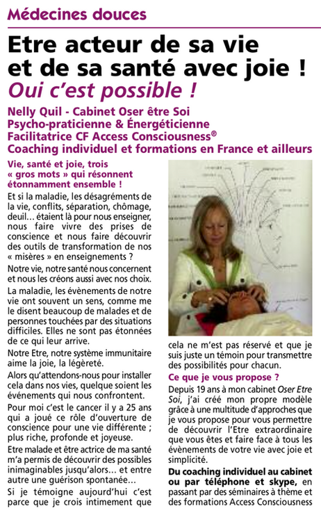 """Article paru dans """"Soleil Levant"""" - Nov 2018"""