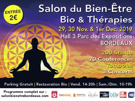 Bordeaux : Salon Du Bien Être, Bio & Thérapies 29 nov. au 1er déc.