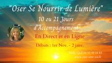 """""""Oser se Nourrir de Lumière"""" en Direct et en Ligne - Débuts :  1er Nov - 2 Janv."""