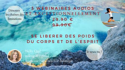 3 Webinaires Audios en vente sur le site (E-Boutique)