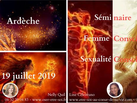 Femme consciente, sexualité consciente du 14 au 19 juillet 2019 en Ardèche