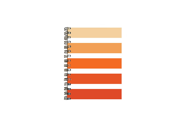 CUADERNO CANDY STRIPES - ORANGE