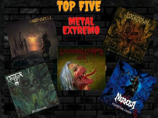 TOP FIVE METAL EXTREMO: os destaques da Rádio Rock Capital