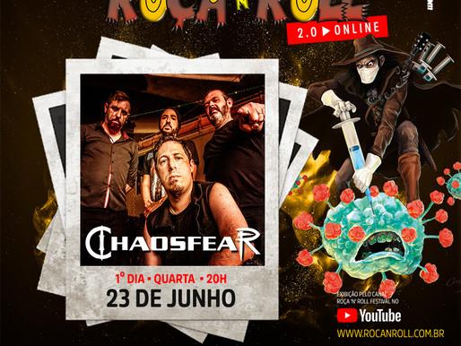 CHAOSFEAR AO VIVO NO FESTIVAL ROÇA N' ROLL 2.0 ONLINE NESTA QUARTA-FEIRA!