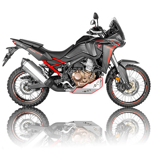 Honda CRF1100L Africa Twin 2020-2021 Skid Plate (silver color)
