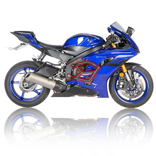 Yamaha R6 2017-2019 Street Crash Cage Bars with Sliders right side