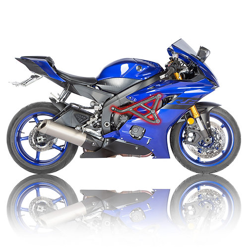 Yamaha R6 2017-2019 Race Rail Enigne Guard with Sliders right side