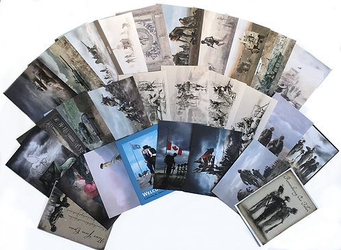 Canadian Military: Set of 40+ postcards