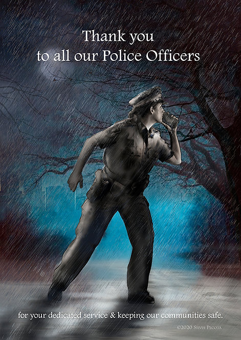 Set of 25+ Postcards: to thank Police