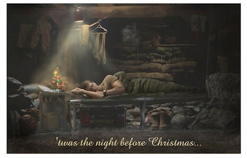 "Card:"" 'twas the night before Christmas"""