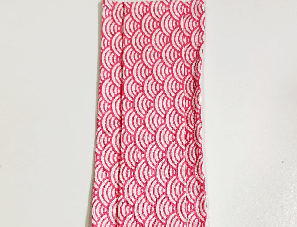Masques AFNOR - Imprimé géométrique rose