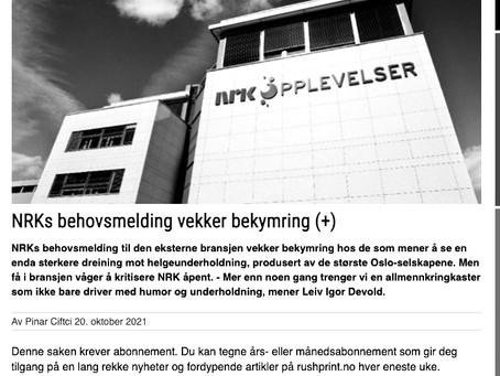 NRKs mangelfulle behovsmelding
