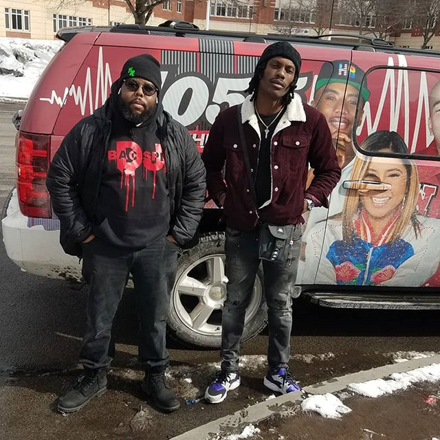 #SPRAY @1055thebeat interview good vibes