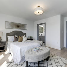 Transitional Bedroom Staging
