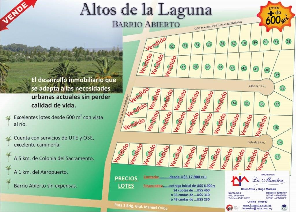 Altos de la  Laguna Marzo 2021