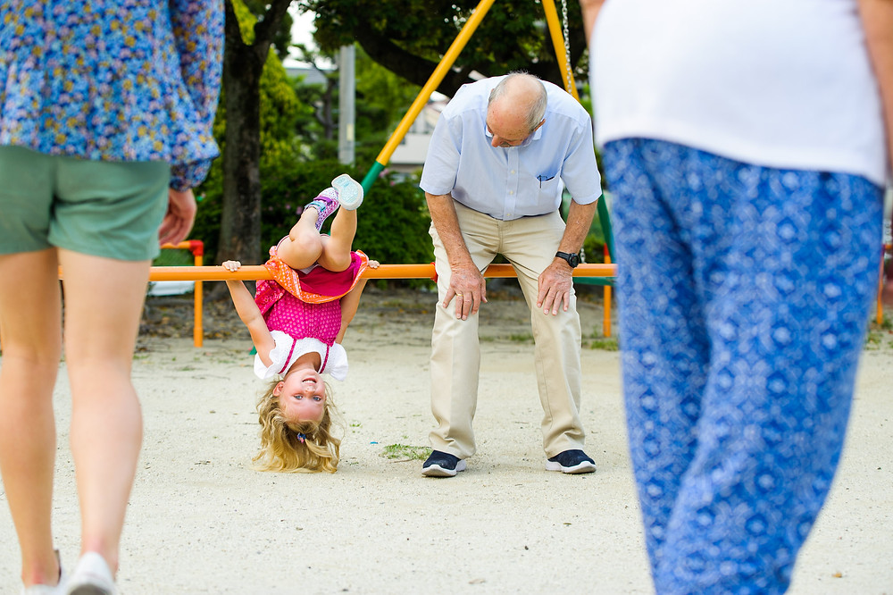 Willa and her grandfather at the park