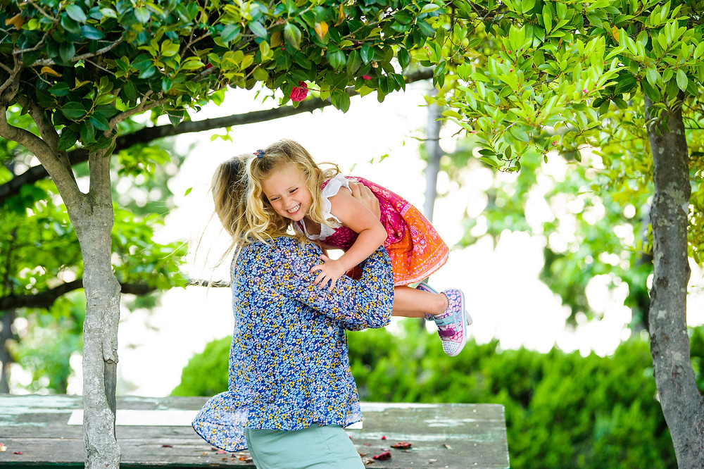 Willa and her mother at the park