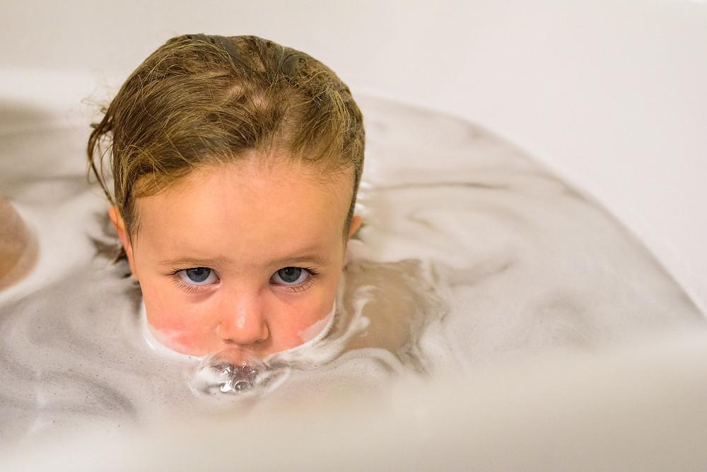 Clara in the bath