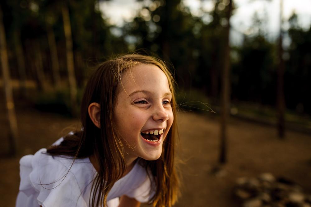 Liz laughing