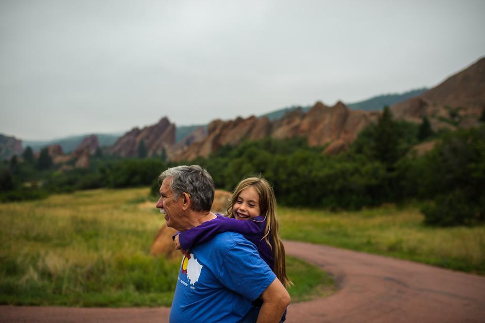 Amelia and Grandpa in Colorado