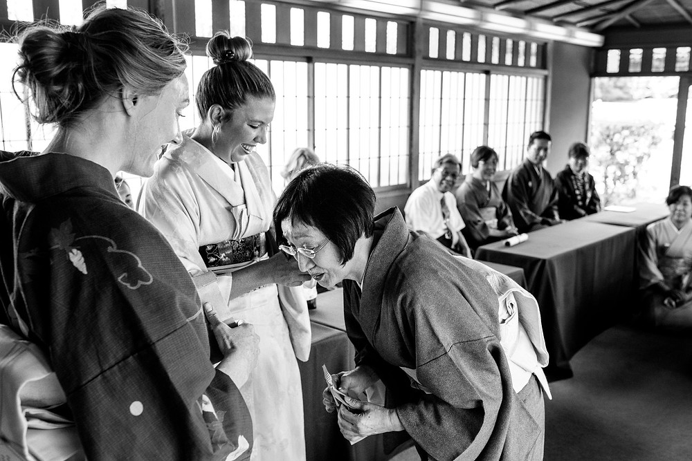 After tea ceremonies, the women give gifts