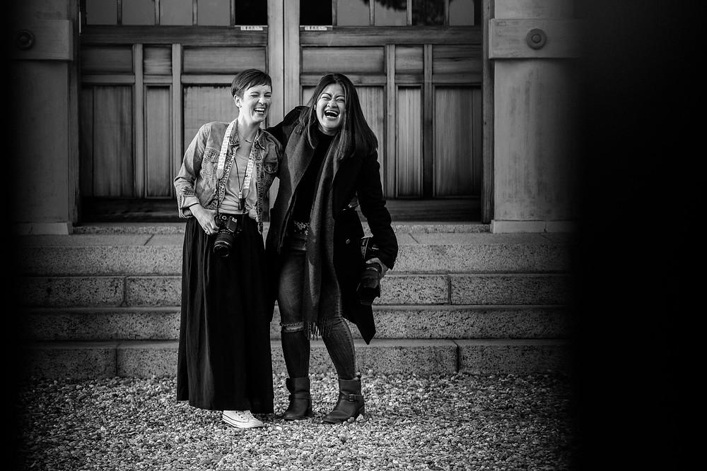 Anna Mae and Erinn laughing