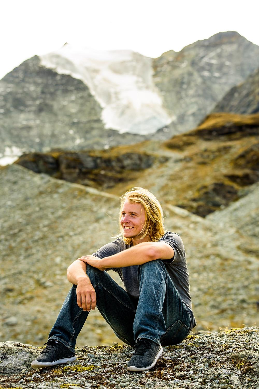 Kevin at the Glacier