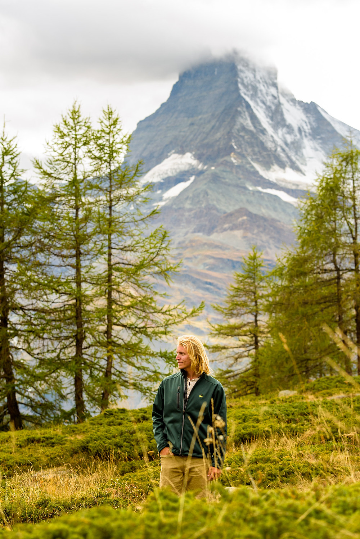 Kevin at the Matterhorn