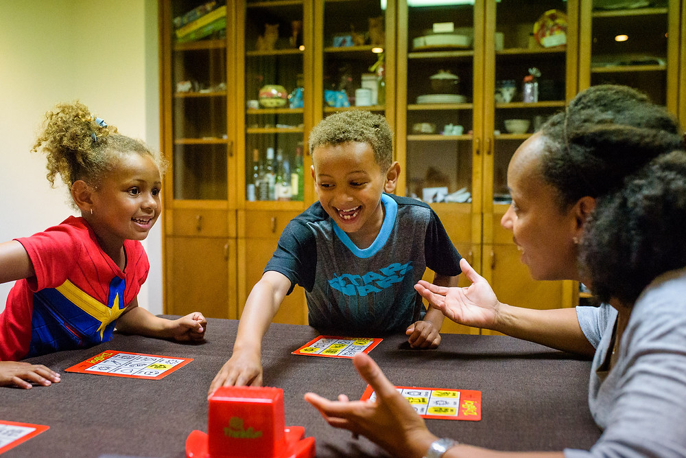 playing family board games