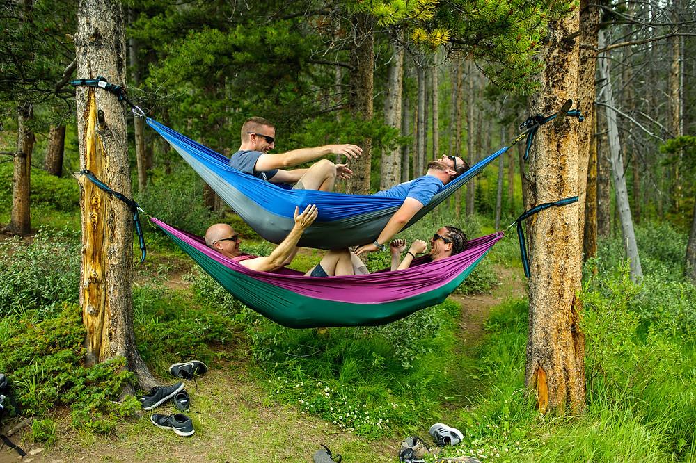brothers in hammocks