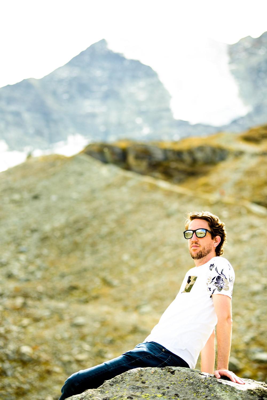 Brad in front of the glacier