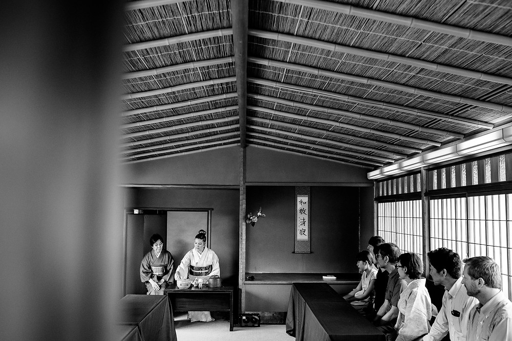 Brittney performing tea ceremony